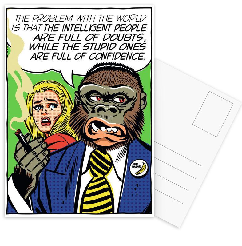 Pop Art, The Problem With The World -Postkartenset