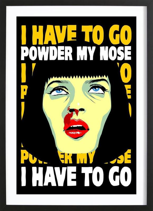 Powder My Nose Framed Print