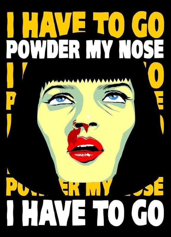 Powder My Nose canvas doek