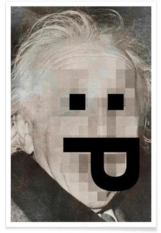 Pop Art, Retro Pop Emoticons Albert affiche