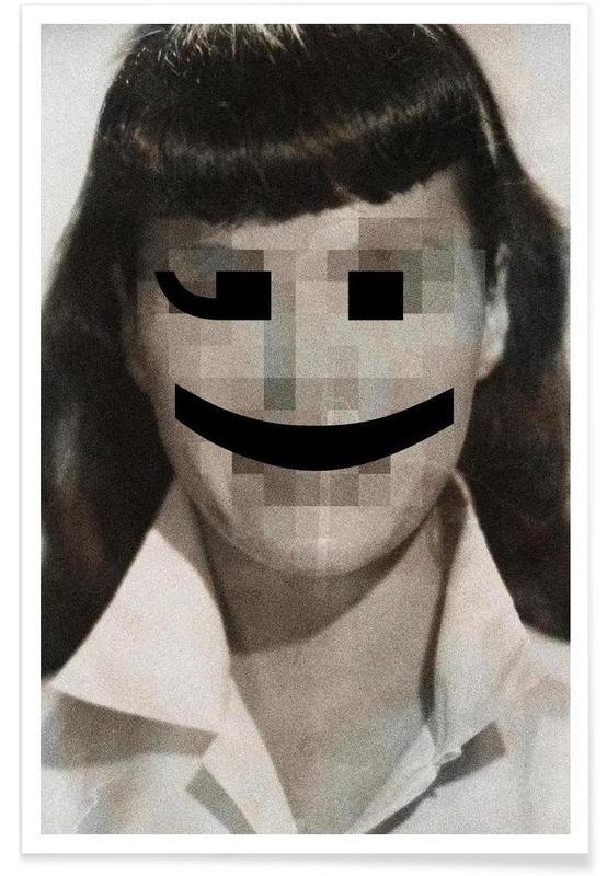 Retro Pop Emoticons Betty poster