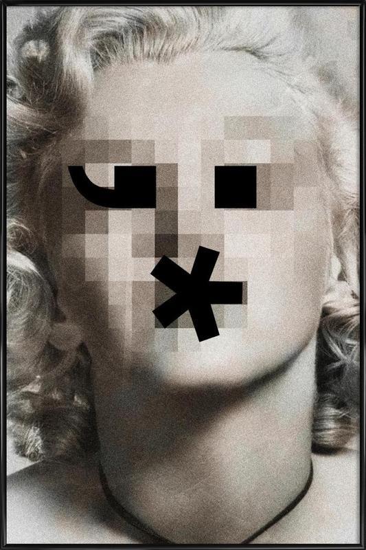 Retro Pop Emoticons Marilyn affiche encadrée