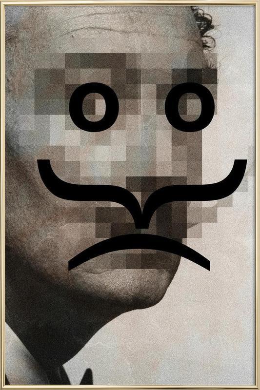Retro Pop Emoticons Salvador -Poster im Alurahmen