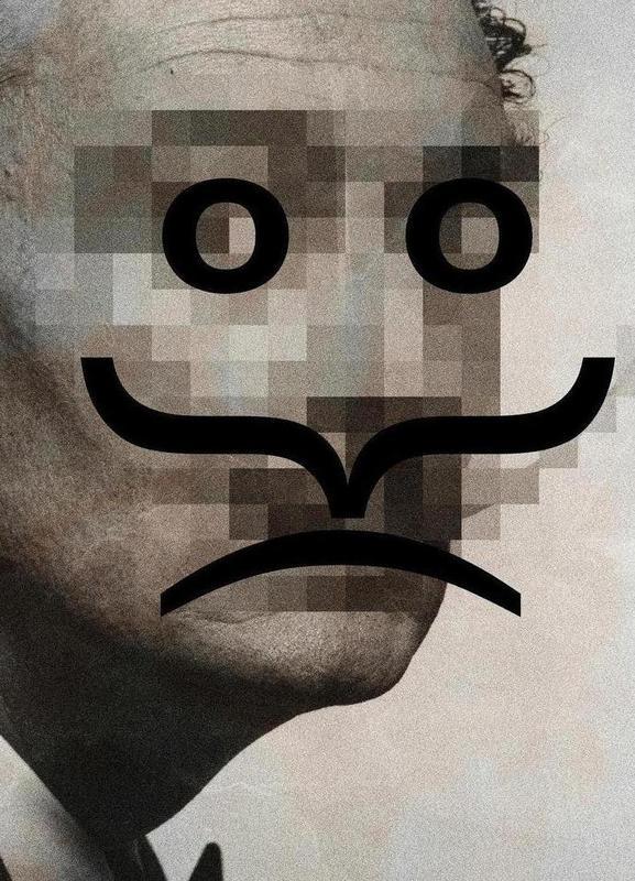 Retro Pop Emoticons Salvador canvas doek