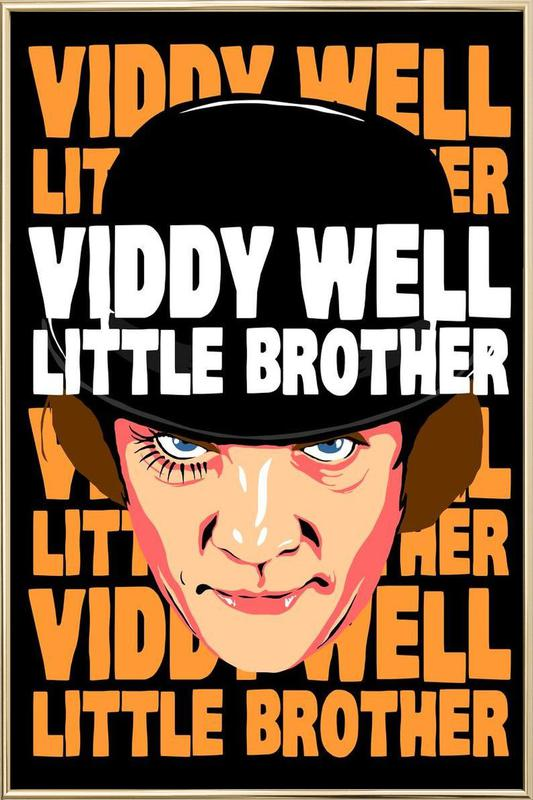 Viddy Well Little Brother Poster in Aluminium Frame