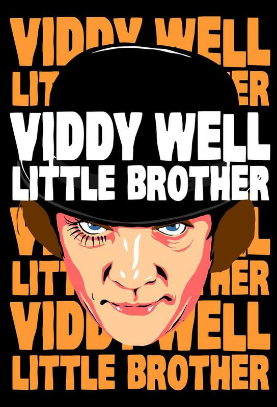 Viddy Well Little Brother tableau en verre
