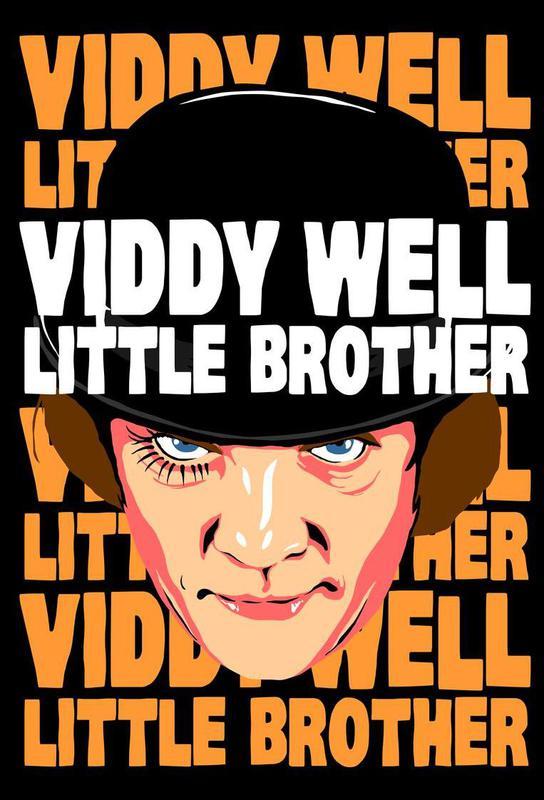 Viddy Well Little Brother Aluminium Print