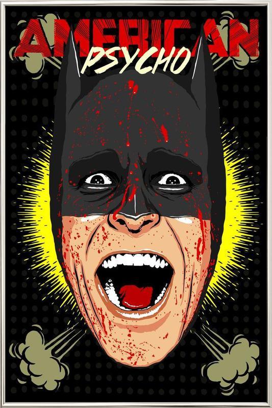 Gotham Psycho Poster in Aluminium Frame