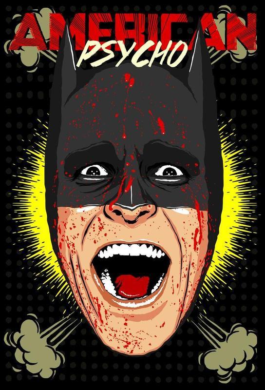 Gotham Psycho Aluminium Print