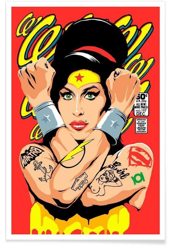 Amy Winehouse, Pop art, Rehab Wonder Plakat