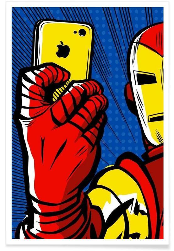 Iron Man, Pop Art, Stark Selfie affiche
