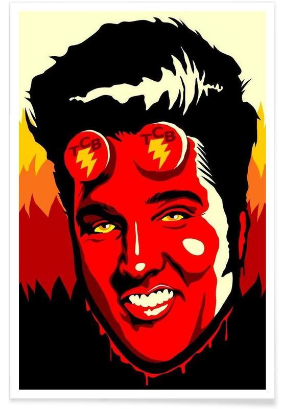 Elvis, Pop Art, Hellvis Poster