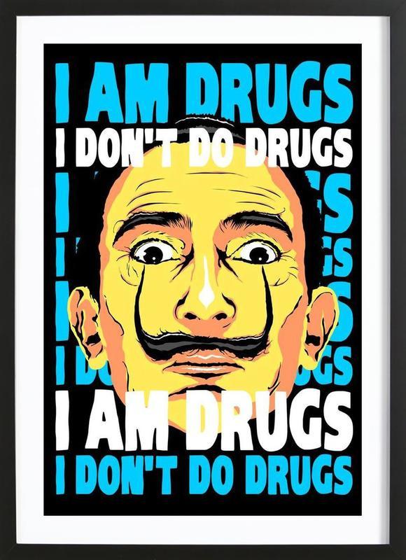 I Am Drugs ingelijste print