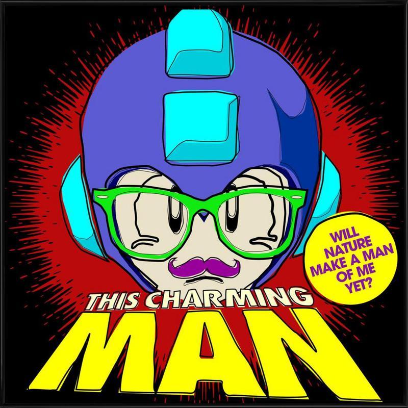 This Charming Mega-Man Framed Poster