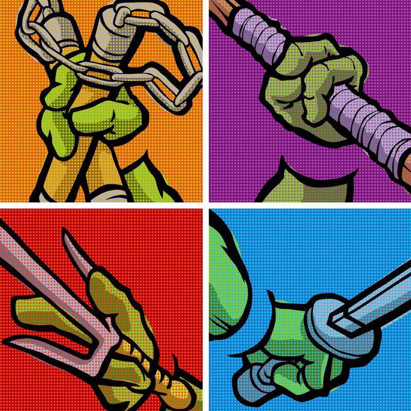 Lichtenstein Pop Martial Art Combo Aluminium Print