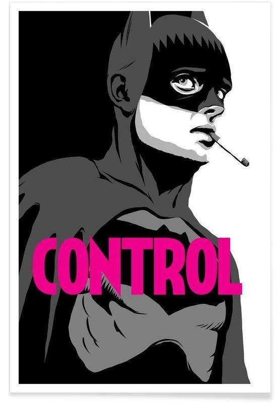 Pop Art, Rock, Batman, Films, Bat-Control affiche