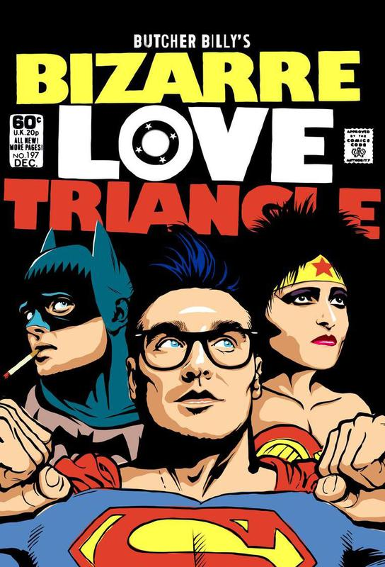 Bizarre Love Triangle tableau en verre