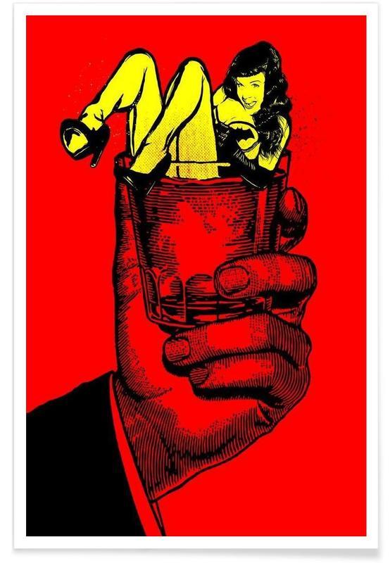 Pop Art, Bloody Bettie On The Rockers -Poster