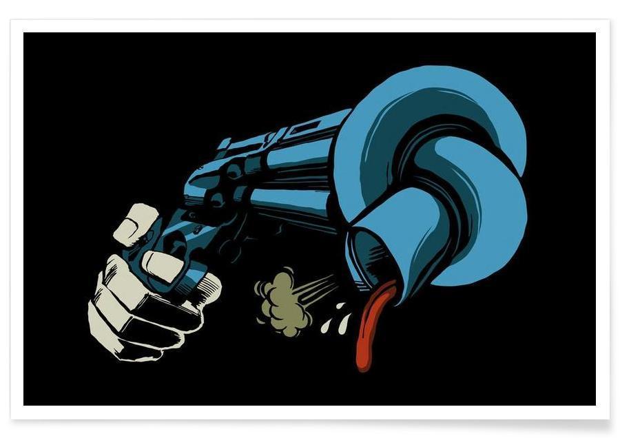 Pop Art, Crooked Gun -Poster