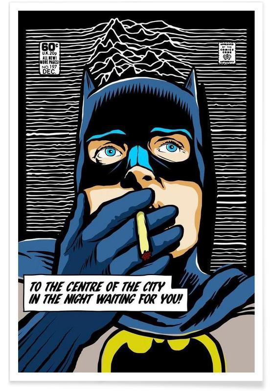 Post-Punk Comix- Bat Curtis -Poster