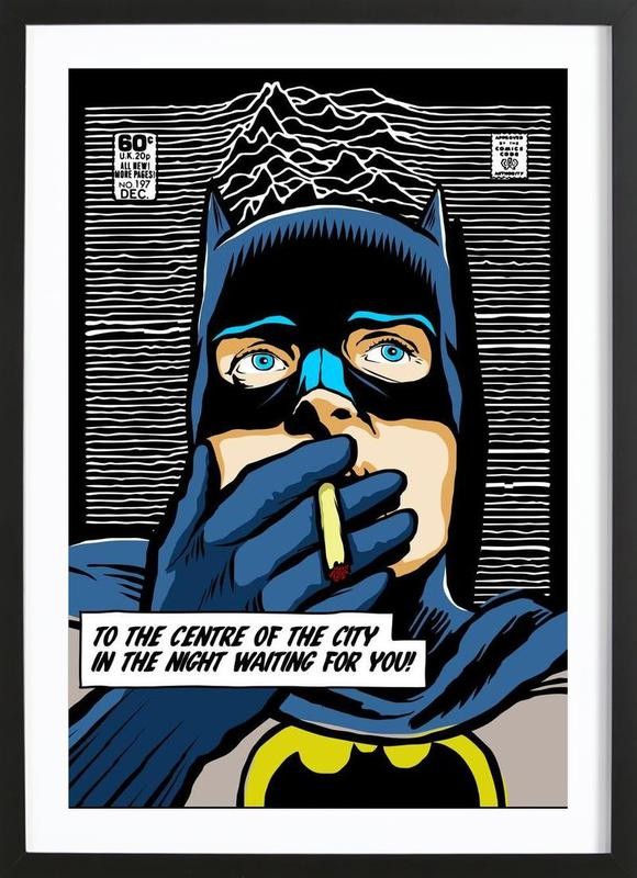 Post-Punk Comix- Bat Curtis ingelijste print