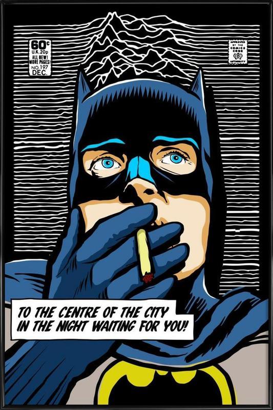Post-Punk Comix- Bat Curtis -Bild mit Kunststoffrahmen