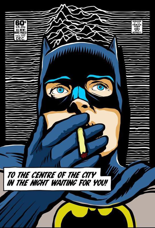 Post-Punk Comix- Bat Curtis Acrylic Print