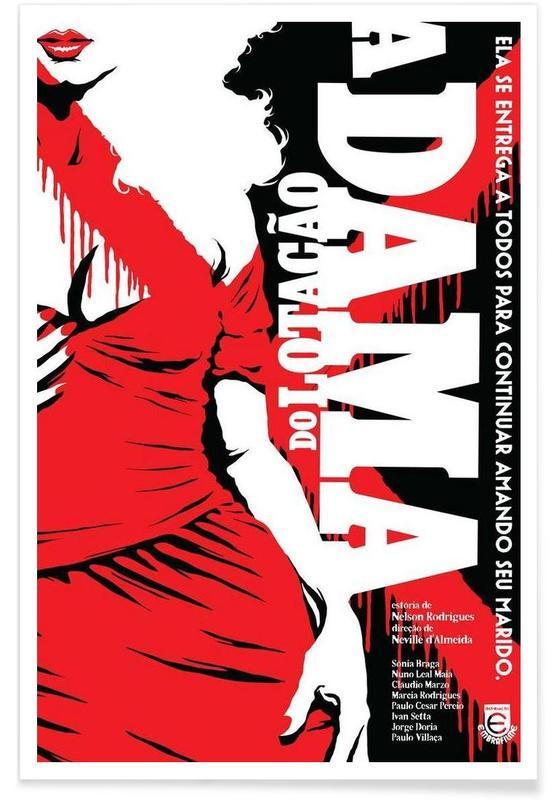 Filme, A Dama do Lotacao -Poster