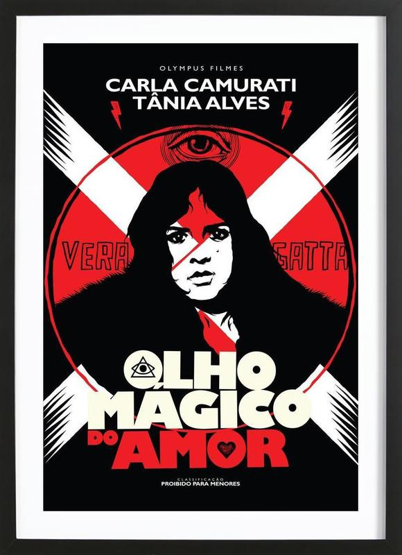 Olho Magico do Amor Framed Print