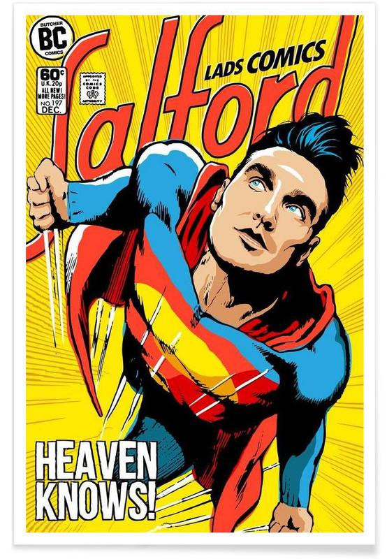 Post-Punk Comix- Super Moz - Heaven Knows affiche