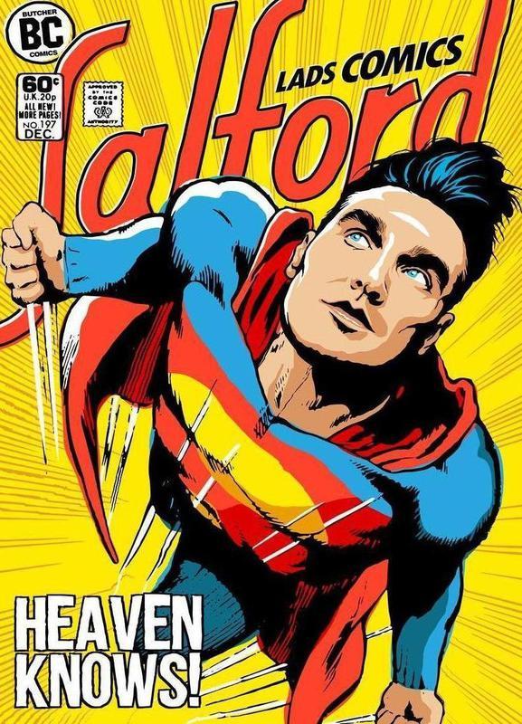 Post-Punk Comix- Super Moz - Heaven Knows Canvas Print