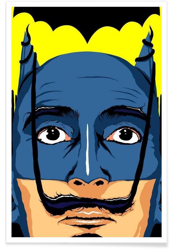Salvador Dali, Pop Art, Batman, Dali Batman affiche