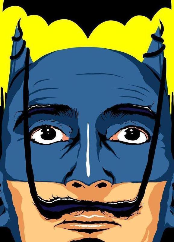 Dali Batman Canvas Print