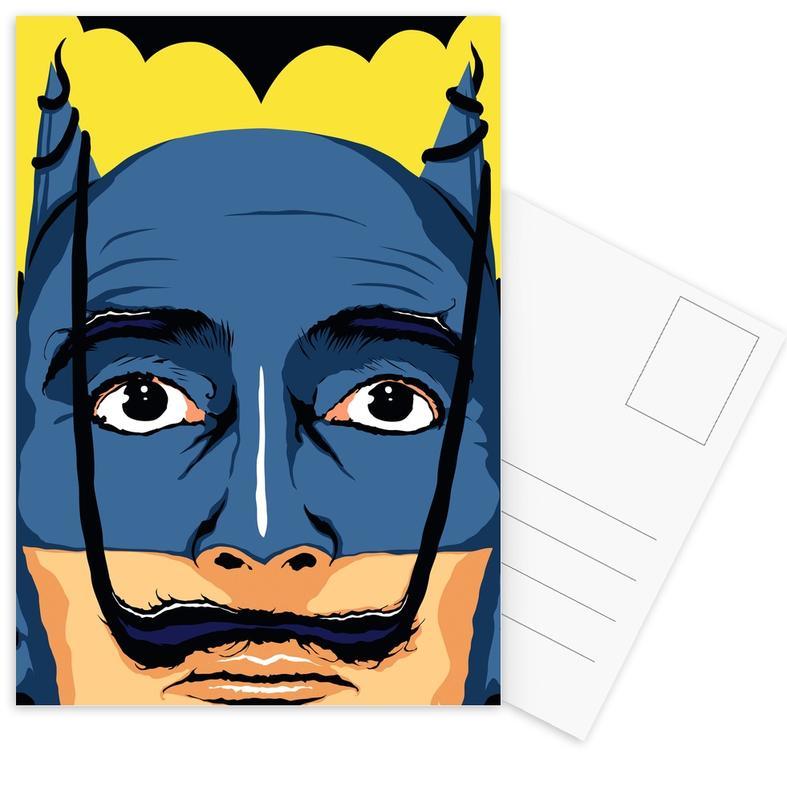Salvador Dali, Popart, Batman, Dali Batman ansichtkaartenset