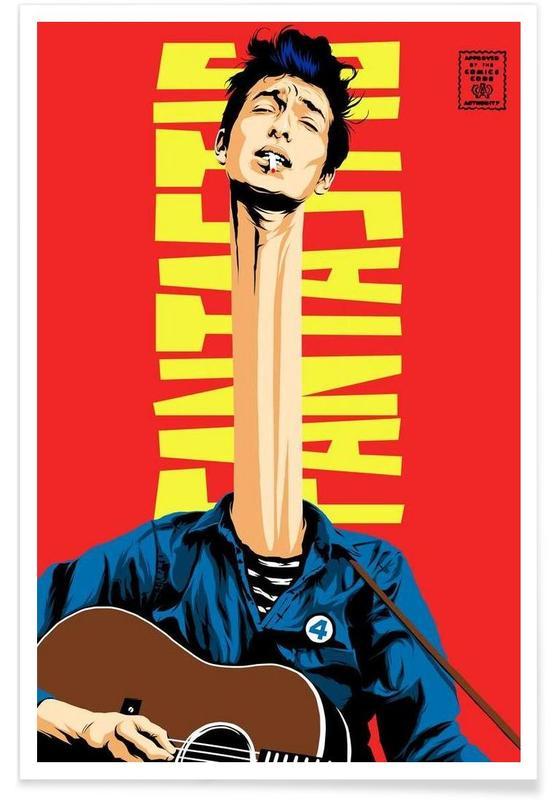 Bob Dylan, Pop Art, Dylan Mr. Fantastic -Poster