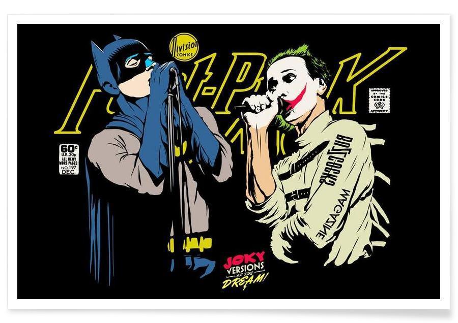 Batman, Joker, Pop Art, The Post Punk Face Off -Poster