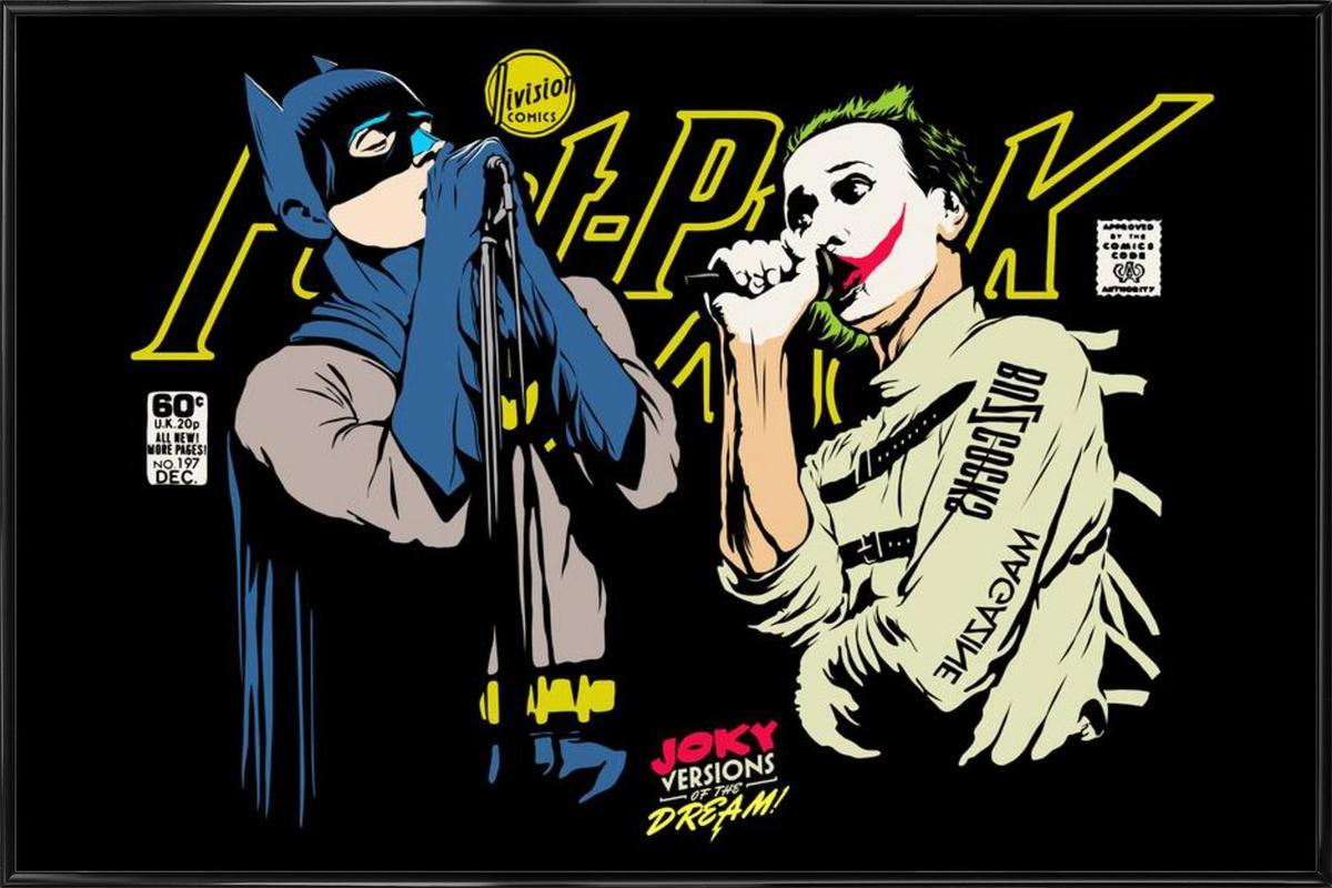 The Post Punk Face Off ingelijste poster