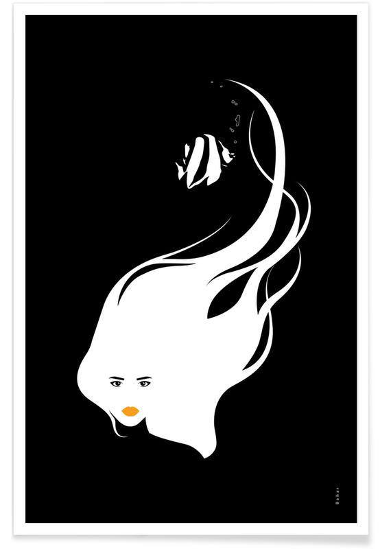 Portraits, Noir & blanc, Black Sea affiche