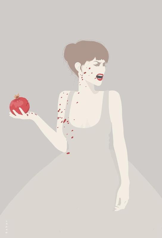 Pomegranate alu dibond