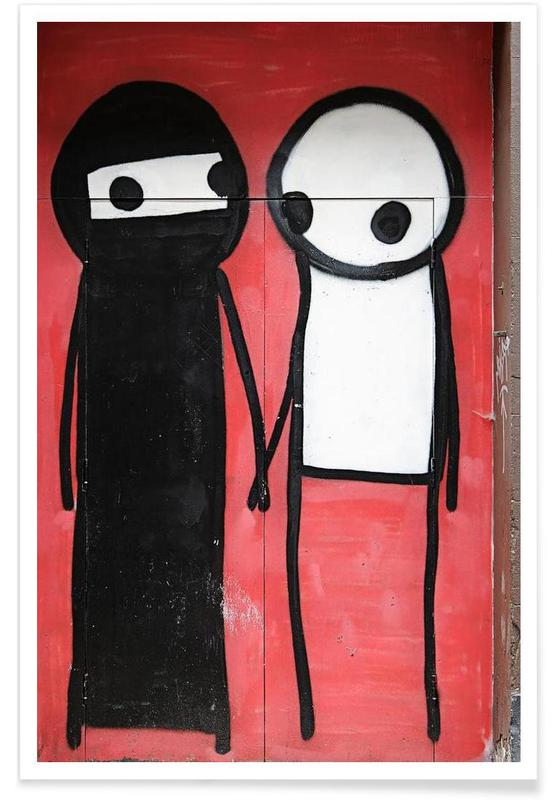 Street Art, Streetart Rot 1  affiche