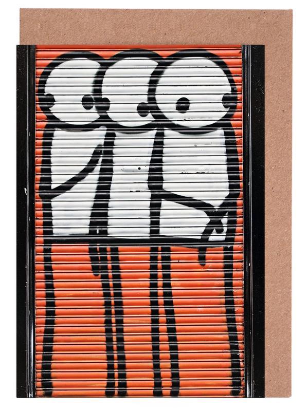 Street Art, Streetart Rot 2 cartes de vœux