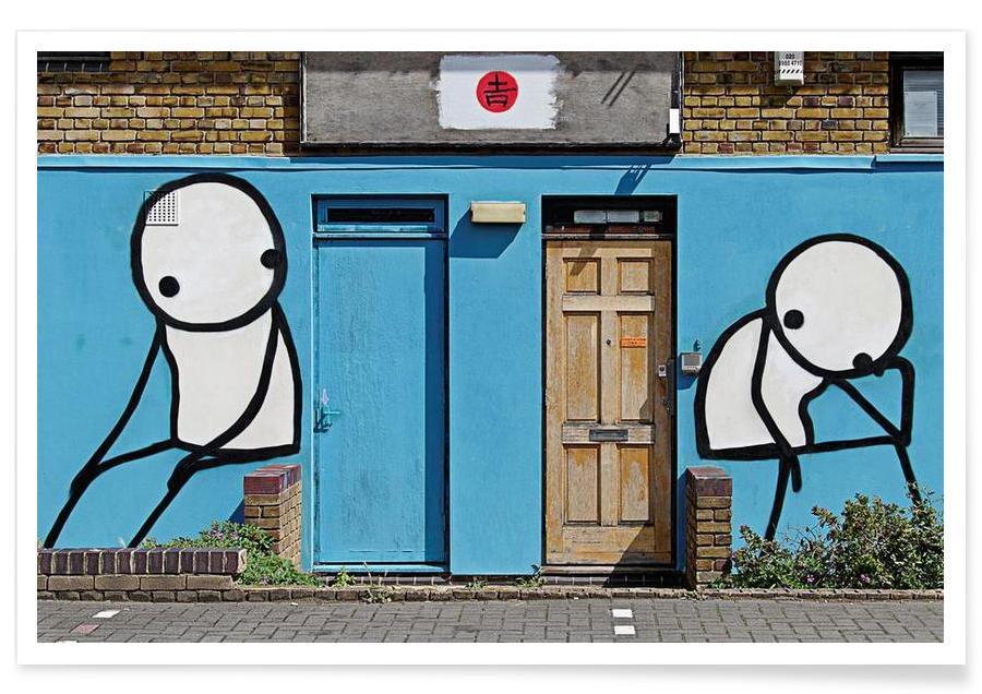 Street Art Style, Streetart Blau 2 Poster
