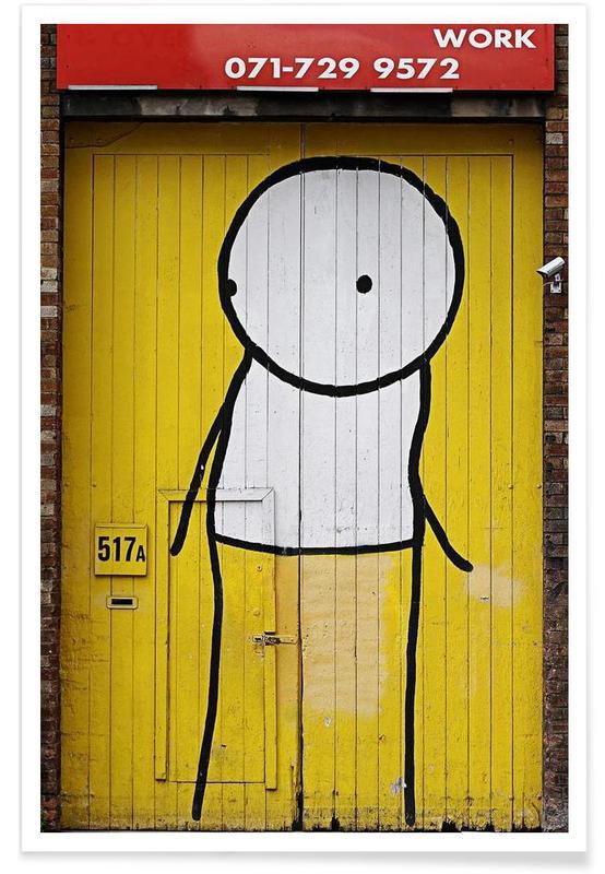 Streetart Gelb 1 Poster