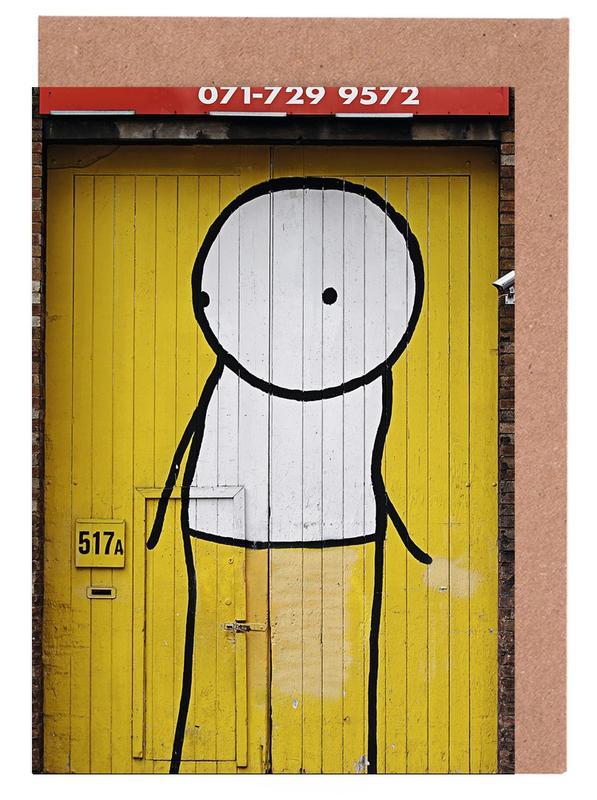 Street Art, Streetart Gelb 1 cartes de vœux