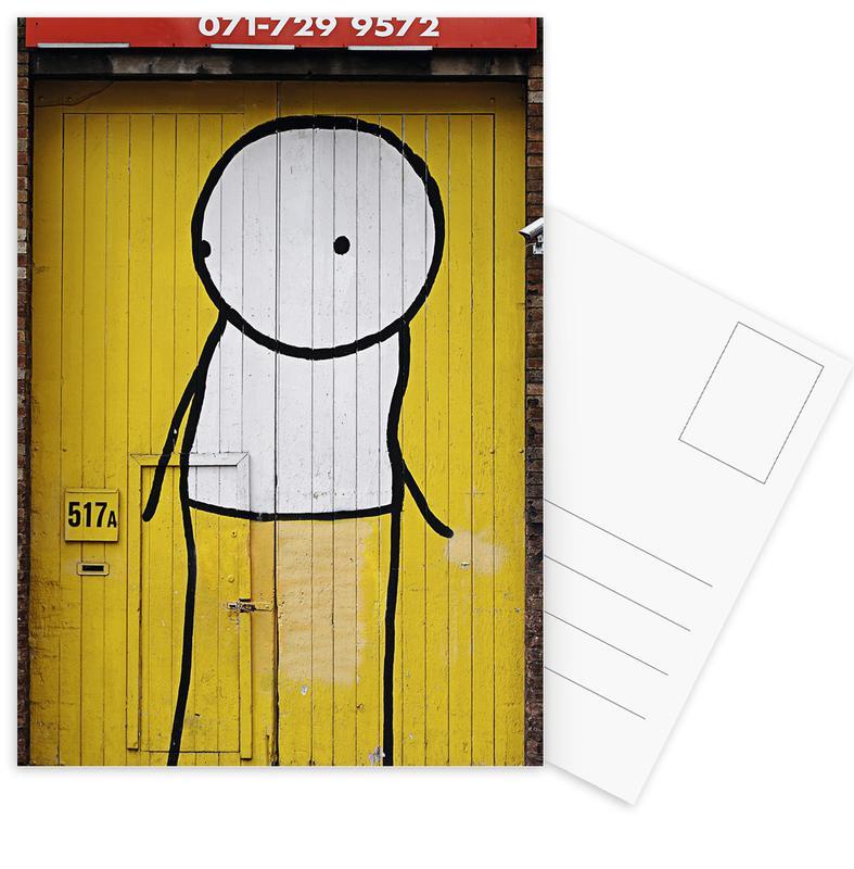 Street art, Streetart Gelb 1 ansichtkaartenset