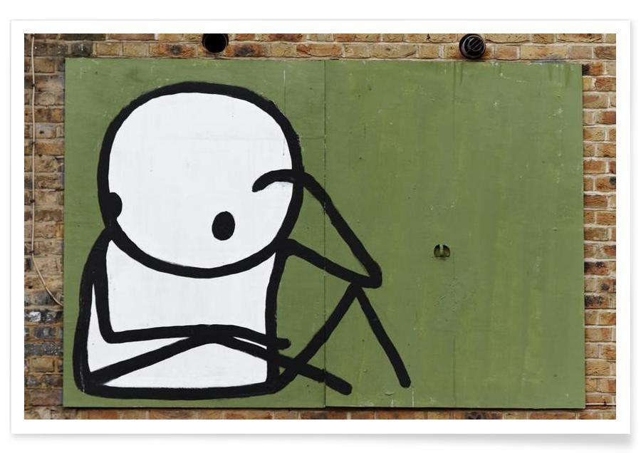 Street Art, Streetart Grün 1 -Poster