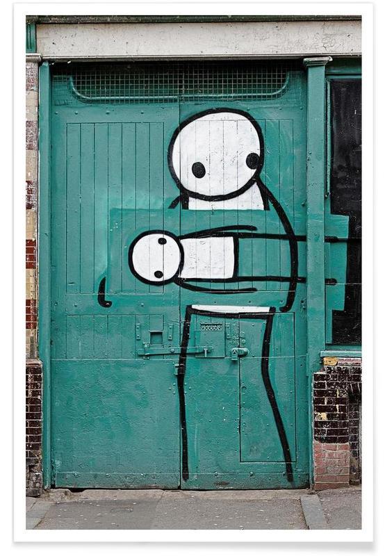 Street Art, Streetart Grün 2  affiche
