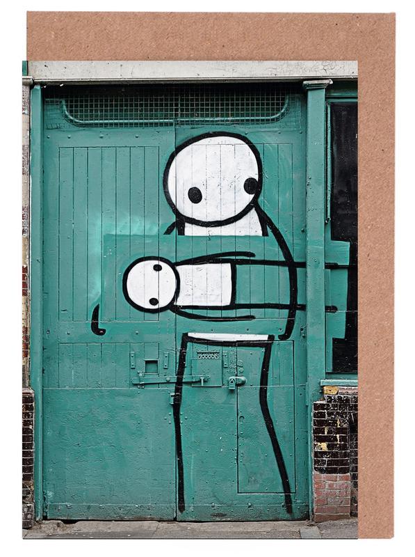 Street Art, Streetart Grün 2  cartes de vœux