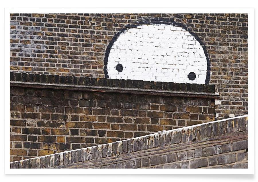 Streetart Mauer Poster