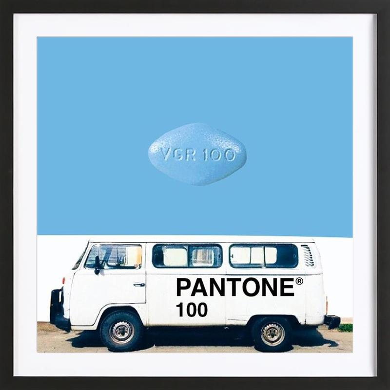 there can only be one, big one Framed Print